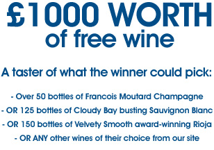 Win FREE wine for your wedding