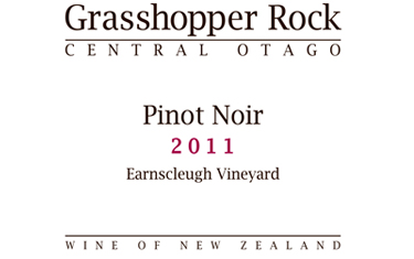 Grasshopper Rock Central Otago Pinot Noir 2011