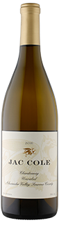 Jac Cole Unoaked Chardonnay Alexander Valley Sonoma County 2016