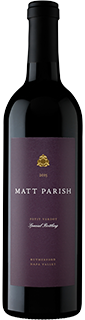 Matt Parish Petit Verdot Rutherford 2015